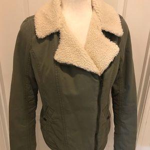 Hollister Green Bomber Jacket Women's Size Medium